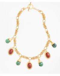 Brooks Brothers - Poppy Jasper Scarab Charm Necklace - Lyst