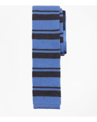 Brooks Brothers - Square End Horizontal Stripe Knit Tie - Lyst