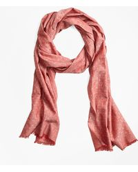 Brooks Brothers - Donegal And Polka Dot Scarf - Lyst