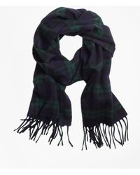 Brooks Brothers - Cashmere Black Watch Scarf - Lyst