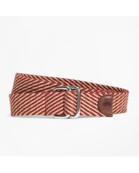Brooks Brothers - Striped Woven D-ring Belt - Lyst