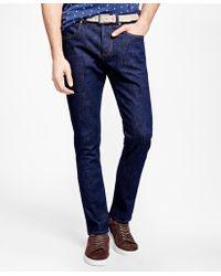 Brooks Brothers - 116 Slim Stretch Jeans In Indigo Denim - Lyst
