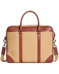Brooks Brothers | Canvas Soft Briefcase | Lyst