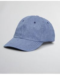 Brooks Brothers Seersucker Baseball Cap - Blue