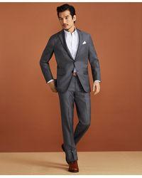 Brooks Brothers Golden Fleece Merino Wool Pinstripe Suit - Gray