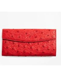 Brooks Brothers - Ostrich Wallet - Lyst