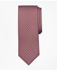 Brooks Brothers Horseshoe Print Tie - Red