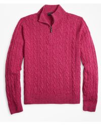 Brooks Brothers - Marled Cable Half-zip - Lyst