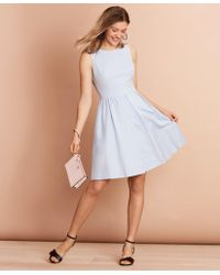 Brooks Brothers Irish Linen-cotton A-line Dress - Blue