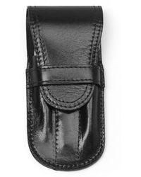 Brooks Brothers Small Foldover Manicure Set - Black