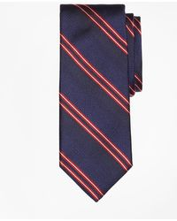 Brooks Brothers - Natte Double Stripe Tie - Lyst
