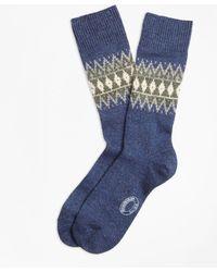 Brooks Brothers - Fair Isle Wool-silk-blend Socks - Lyst