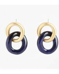 Brooks Brothers - Gold-plated Link Drop Earrings - Lyst