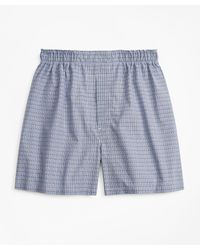 Brooks Brothers Relaxed Fit Glen Plaid Boxers - Blue