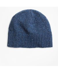 Lyst - Drake s Drakes Donegal Wool Beanie - in Blue for Men f7a5425549b4