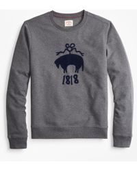 Brooks Brothers - French Terry Logo Crewneck Sweatshirt - Lyst