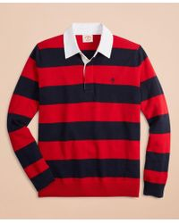 Brooks Brothers - Cotton-cashmere Rugby Sweater - Lyst