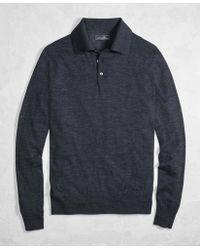 Brooks Brothers - Golden Fleece® 3-d Knit Fine-gauge Merino Wool Polo Sweater - Lyst