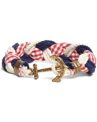 Brooks Brothers - Kiel James Patrick Gingham Braided Bracelet - Lyst