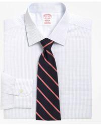 Brooks Brothers - Non-iron Madison Fit Medium Check Dress Shirt - Lyst
