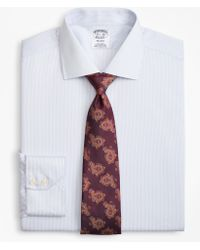 Brooks Brothers - Regent Fitted Dress Shirt, Non-iron Alternating Stripe - Lyst