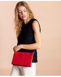 Brooks Brothers Saffiano Leather Cross-body Bag - Red