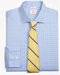 Brooks Brothers - Madison Classic-fit Dress Shirt, Non-iron Glen Plaid Overcheck - Lyst