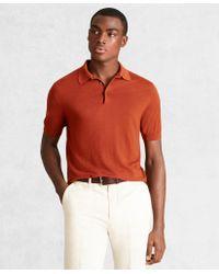 Brooks Brothers Golden Fleece 3-d Knit Fine-gauge Merino Short-sleeve Polo - Red