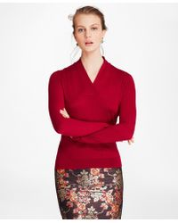Brooks Brothers - Silk-cashmere Shawl-collar Sweater - Lyst