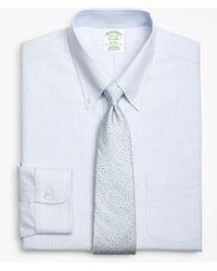 Brooks Brothers - Brookscool® Milano Slim-fit Dress Shirt, Non-iron Tonal Alternating Stripe - Lyst