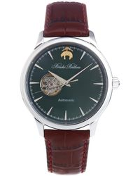 Brooks Brothers - Round Watch With Embossed Leather Band - Lyst