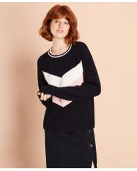 Brooks Brothers - Chevron-patterned Cotton Sweater - Lyst