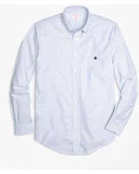 Brooks Brothers | Non-iron Milano Fit Oxford Stripe Sport Shirt | Lyst