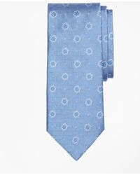 Brooks Brothers - Parquet Ground Flower And Square Tie - Lyst