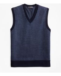 Brooks Brothers - Merino Wool Houndstooth Vest - Lyst
