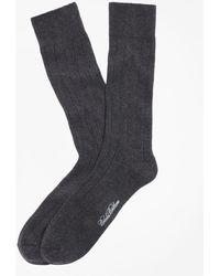 Brooks Brothers - Ribbed Crew Socks - Lyst