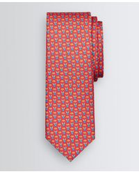 Brooks Brothers Hedgehog And Cactus Motif Tie - Red