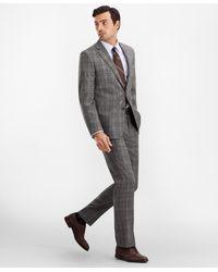Brooks Brothers Regent Fit Glen Plaid 1818 Suit - Gray