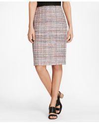 Brooks Brothers - Tweed Pencil Skirt - Lyst