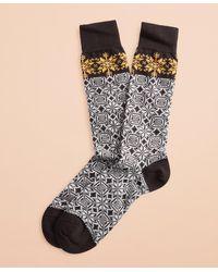 Brooks Brothers - Snowflake Cotton Stretch Crew Socks - Lyst