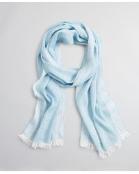 Brooks Brothers Cashmere And Linen Scarf - Blue
