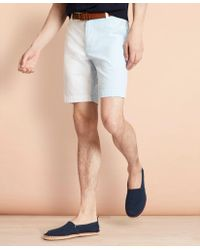 Brooks Brothers Cotton Seersucker Fun Shorts - Blue