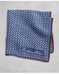 Brooks Brothers - Golden Fleece® Geometric Flower Pocket Square - Lyst