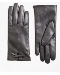 Brooks Brothers - Bow-trimmed Leather Gloves - Lyst