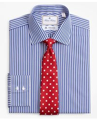 Brooks Brothers Luxury Collection Regular Classic-fit Dress Shirt - Blue