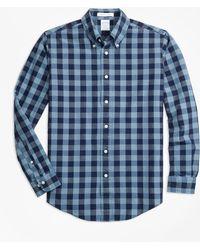 Brooks Brothers - Regent Fit Indigo Gingham Sport Shirt - Lyst