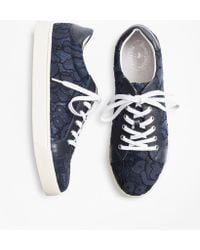 Brooks Brothers - Floral Lace Low-top Sneakers - Lyst
