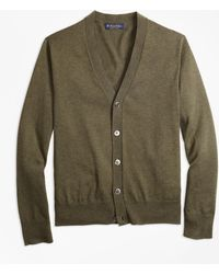 Brooks Brothers - Supima® Cotton V-neck Cardigan - Lyst