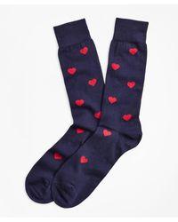Brooks Brothers - Heart Crew Socks - Lyst