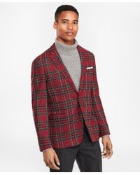 Brooks Brothers Wool-blend Two-button Tartan Sport Coat - Red